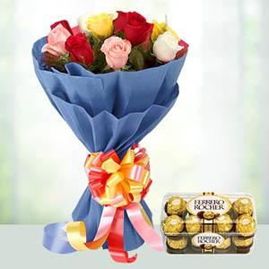 Diwali Flowers and Chocolates