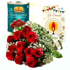 Diwali Flower and Sweets