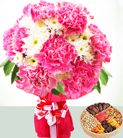 Mothers Day Flowers N Dry Fruits