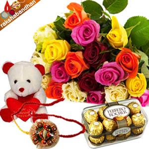 Rakhi With Flowers