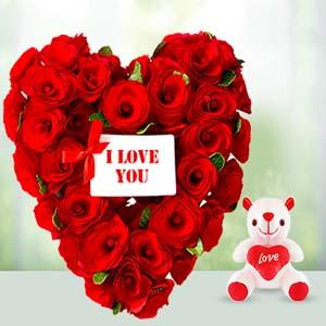 V-Day -Flowers N Soft Toys