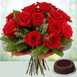 V-Day -Flowers N Cakes