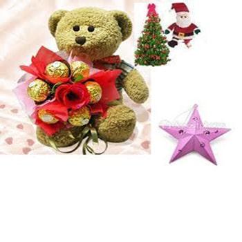 Christmas Gift- Tree with Teddy n Chocolates