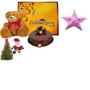 Christmas Gift- Teddy Cake n Chocolates