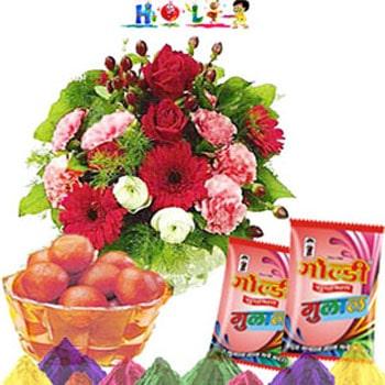 Holi Flowers with Jamun