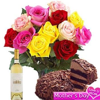 Roses n chocolate cake Combo