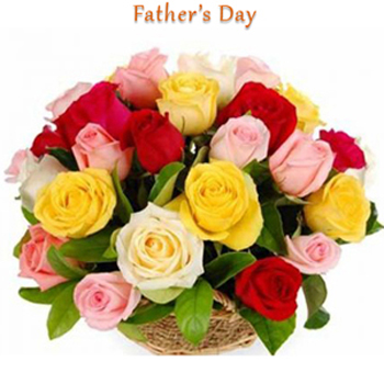 Fathers Day Gifts to India FD-20 Mix Roses Basket