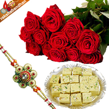 Rakhi Special Papdi with Roses
