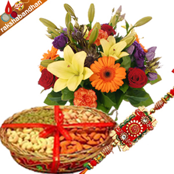Rakhi Seasonal Bouquet with Dryfruits