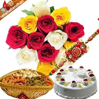 Rakhi with Dryfruits and Cake