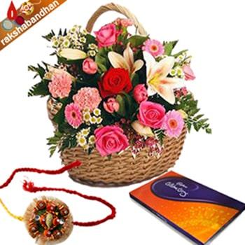 Rakhi Celebration Floral Wishes
