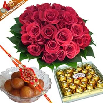 Rakhi Ferrero with Flowers and Jammun