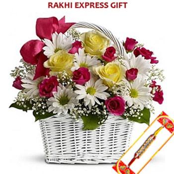 Rakhi Basket Of Flower Gift