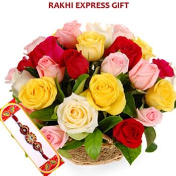 Colorful Basket of Wishes Rakhi