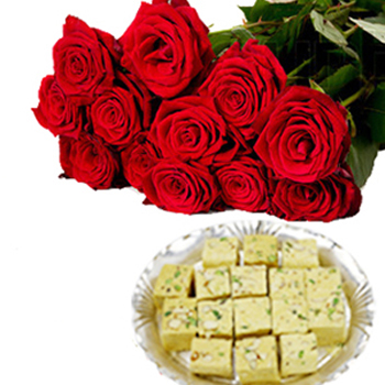 Navratri Special Papdi with Roses
