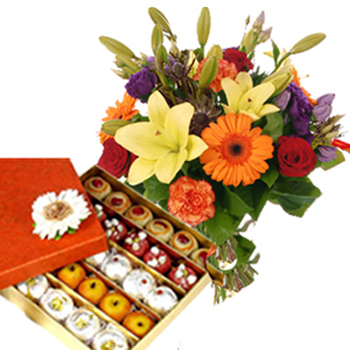 Sweets with Flowers on janmashtami