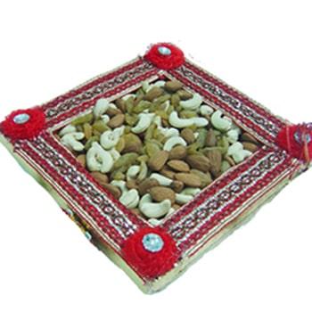 Janmashtami-Mix Dryfruits Square Box