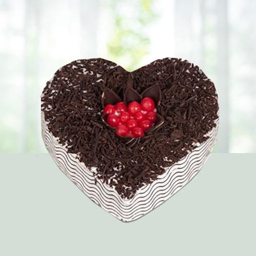 2Kg Blackforest Heart Shape Cake