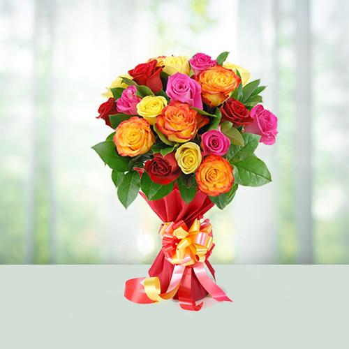 Flowers Bouquet 24 Mix Roses