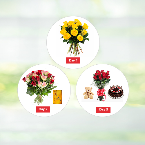 3 Day Valentine Gifts - Valentine Day Gifts to India