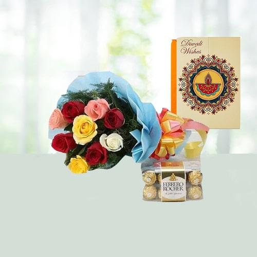 Roses with Ferraro Chocolate