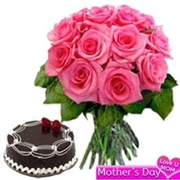 Pink Roses N Cake