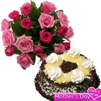 Roses N blackforest combo