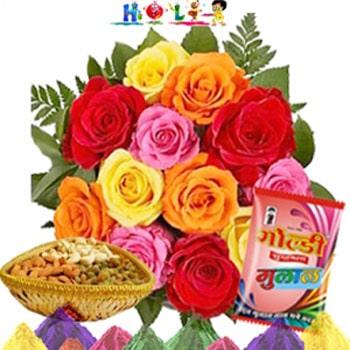 Holi Mix Roses With Dryfruits