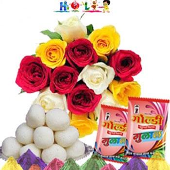 Holi Roses With Rasgulla