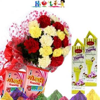 Holi Haldiram Thandai N Carnations