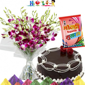 Orchids N Cake for Holi