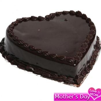 Heartshape Eggless Chocolate Cake