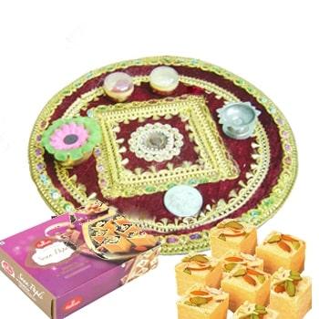 Navratra Pooja Thaliwith 500gms Papdi in Thali