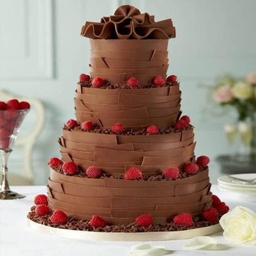 Chocolate Tomb Wedding Cake