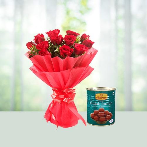 Roses n Gulabjamun combo
