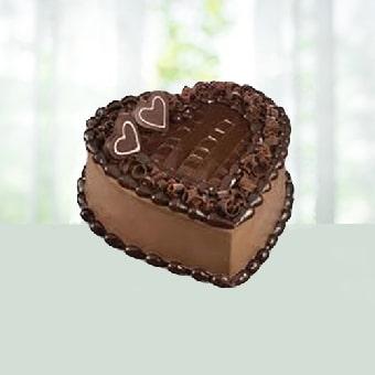 1KG Eggless Heart shape Chocolate Cake