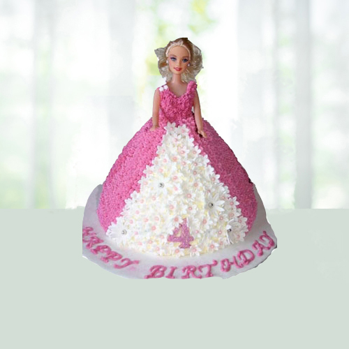 Awesome Send Doll Cream Cake Online Gifts To India Phoolwala Birthday Cards Printable Opercafe Filternl