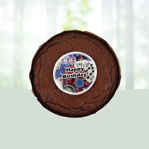 Birthday Brownie Cake - Roses