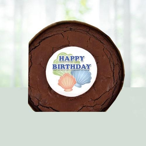 Birthday Brownie Cake - Shells