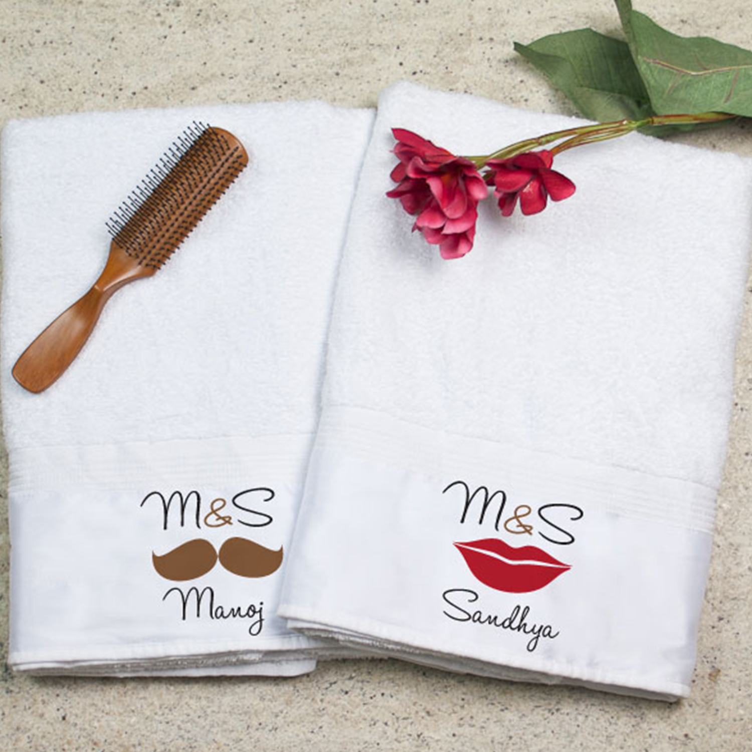 King And Queen Personalized Bath Towel