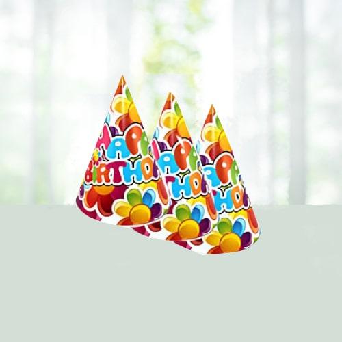 6 Birthday Caps