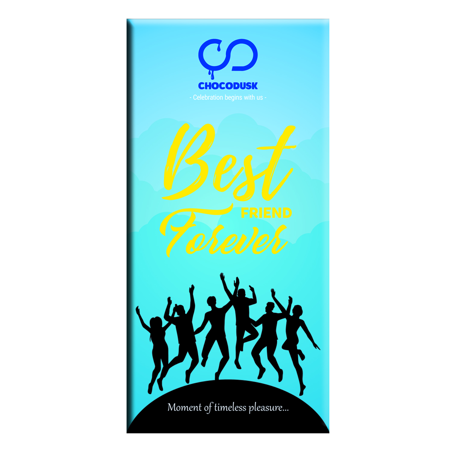 Best Friend Forever (Blue) Chocolate Bar,Set Of 2