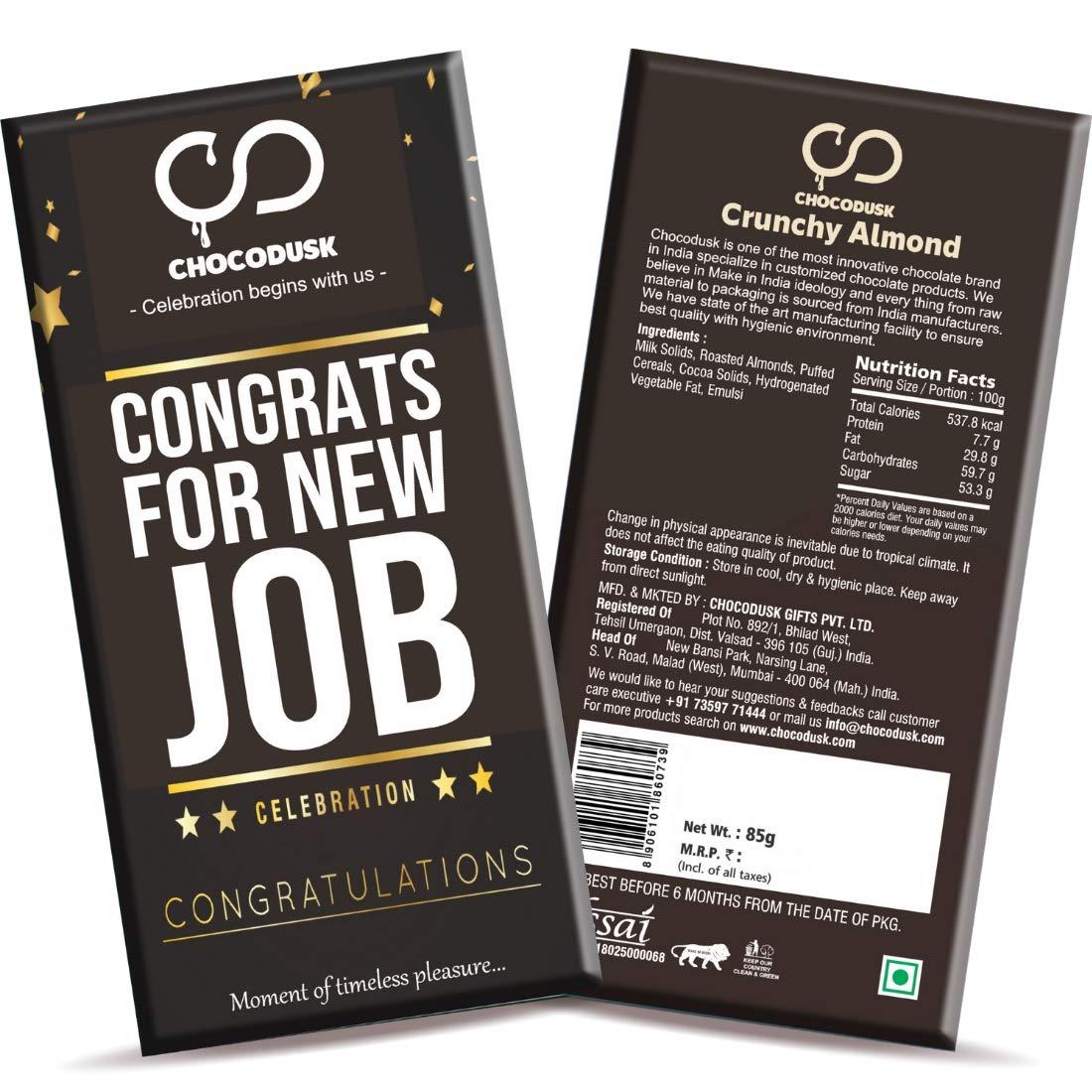 Congrats for New Job Chocolate Bar,85 gram ,Set Of 2