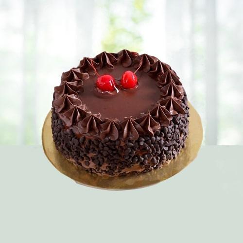 Chocolate Chips and Cherry Cake