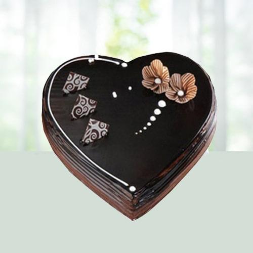 2Kg Chocolate Heart Shape Cake