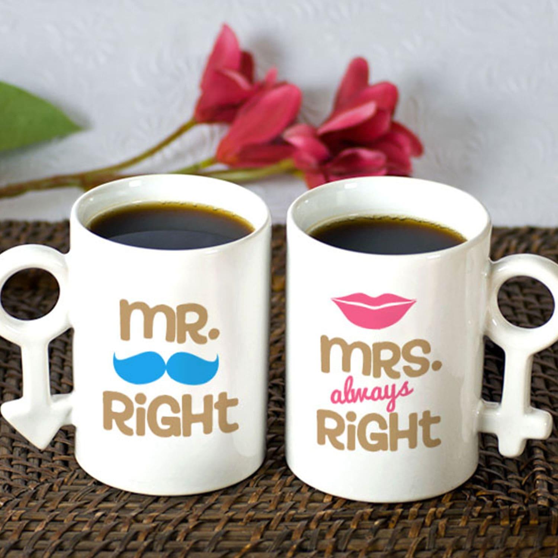 Trendy Personalized Couple Mug