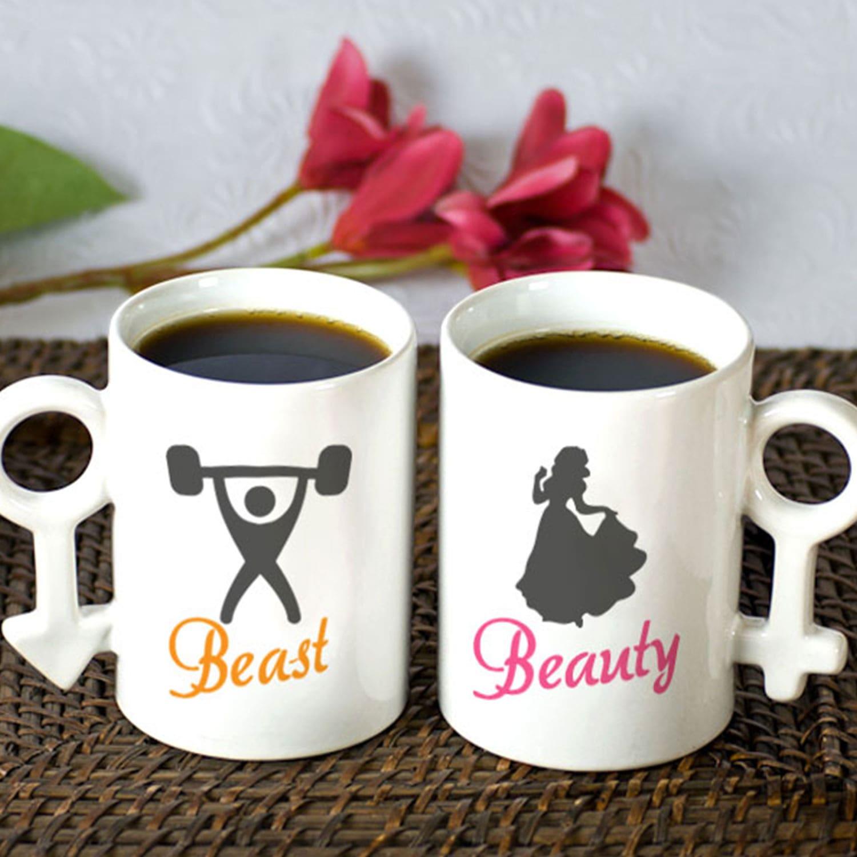 Beast and Beauty Couple Mug