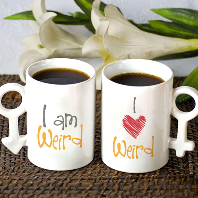 I am weird Couple Mug