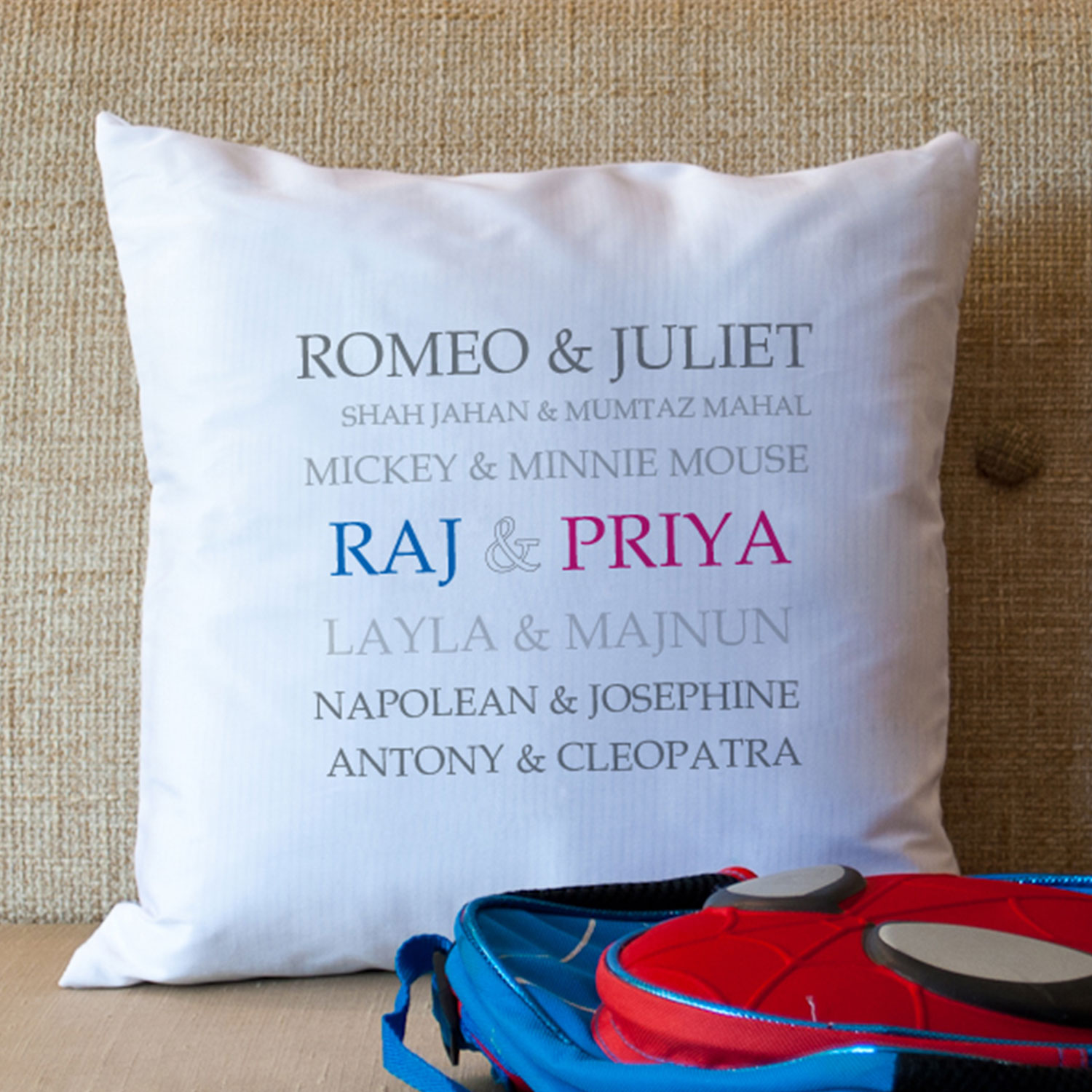 Romeo And juliet Personalized Cushion