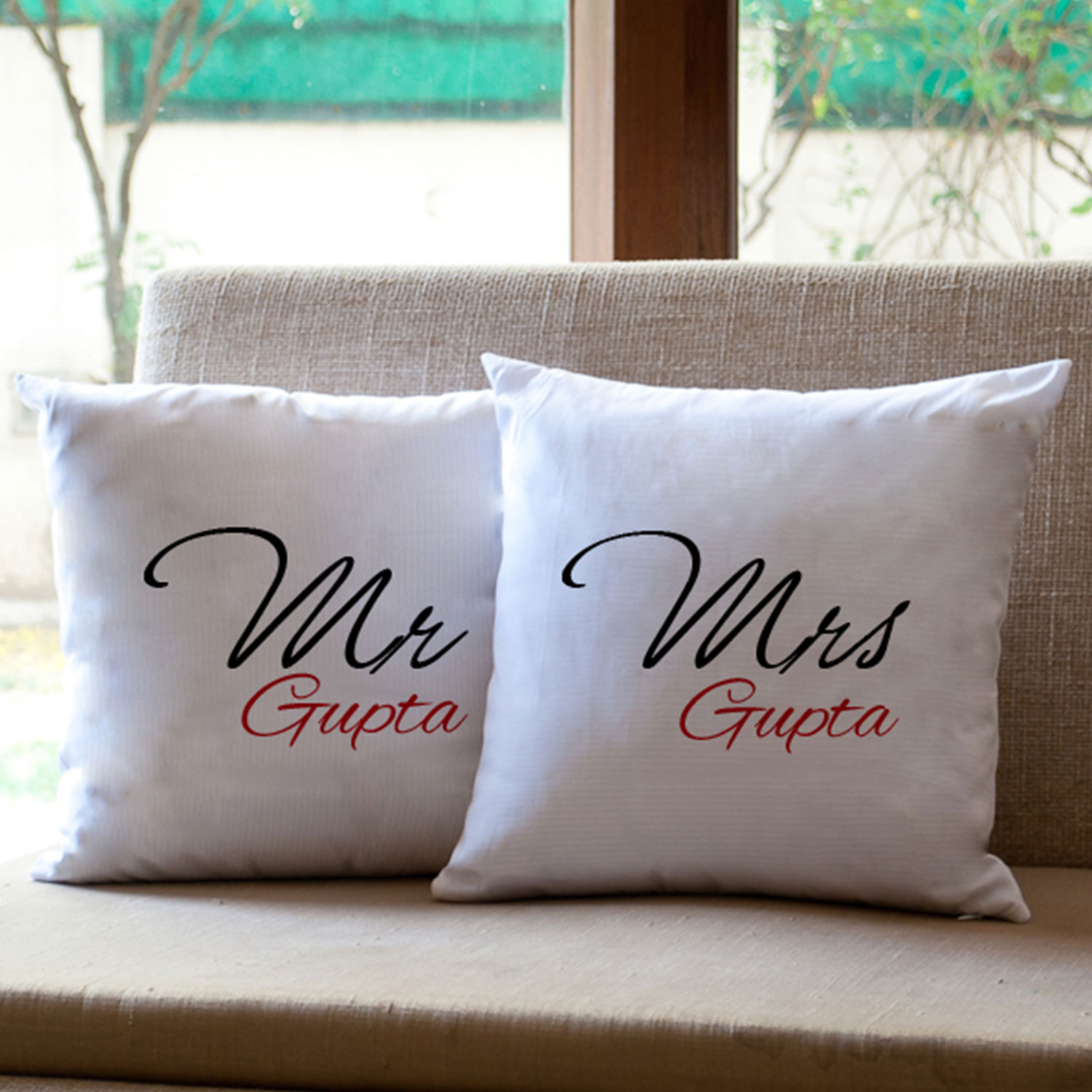 Mr and Mrs Personalized Cushion